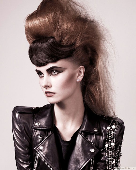 Punk Bouffant Hairstyle http://bestpickr.com/punkhairstyles