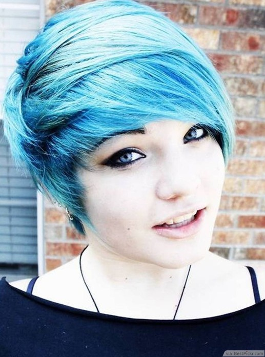 Turquoise Fringe Haircut ❥❥❥ http://bestpickr.com/short-scene-hairstyles-for-girls