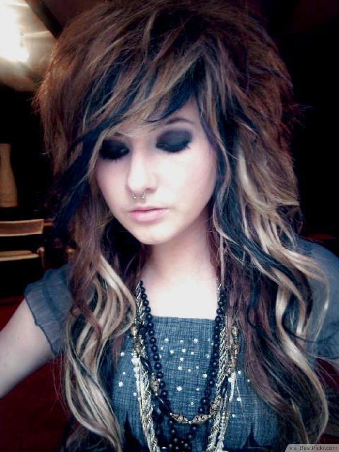 Awesome 10 Cute Long Emo Hairstyles For Girls In 2017 Bestpickr Short Hairstyles For Black Women Fulllsitofus