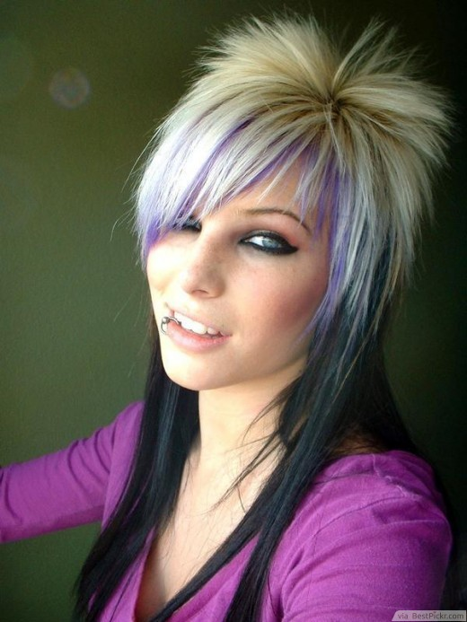 Superb 10 Cute Long Emo Hairstyles For Girls In 2017 Bestpickr Hairstyles For Women Draintrainus