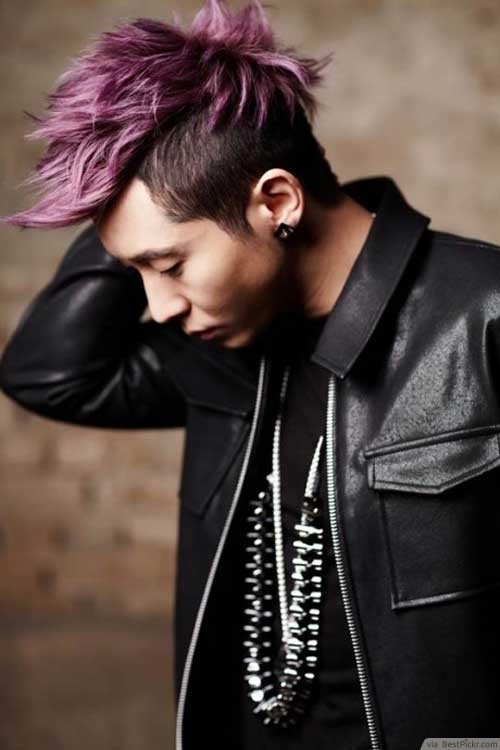 Purple Korean Undercut Hairstyle ❥❥❥ http//bestpickr.com/scene