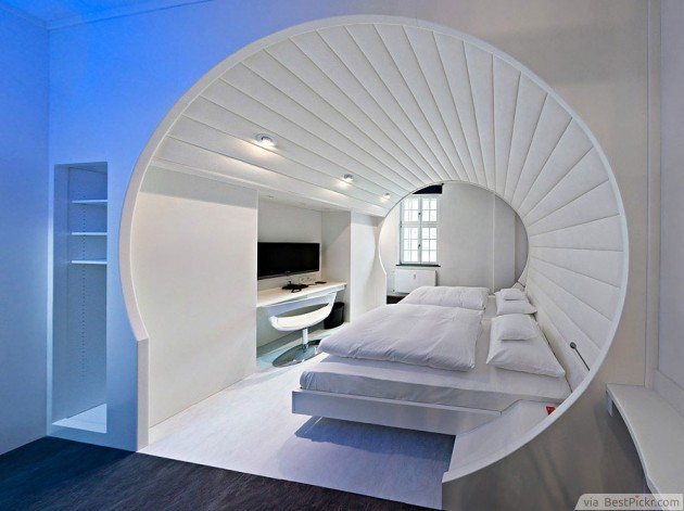 White Ensuite Encased In Round Architectural Frame ❥❥❥ Http://bestpickr.