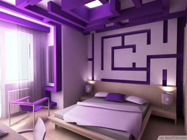 maze inspired purple bedroom idea httpbestpickrcom - Cool Bedroom Design Ideas