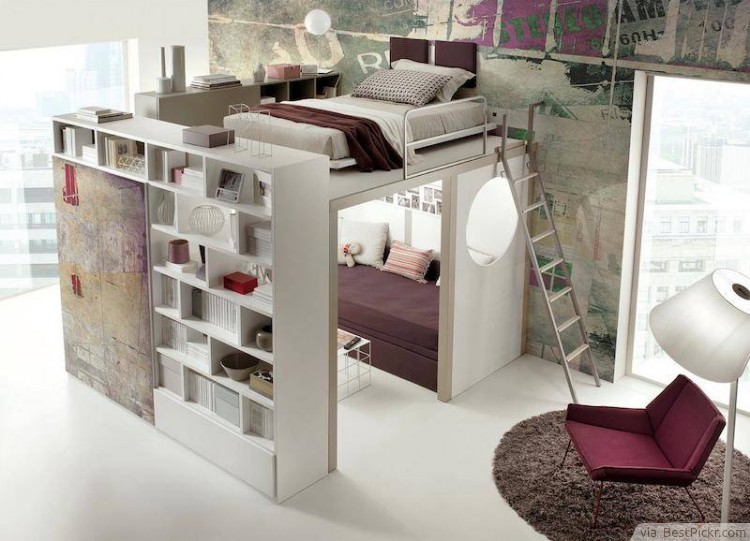 Creative Bedroom Design For Small Apartment ❥❥❥ Http://bestpickr.com
