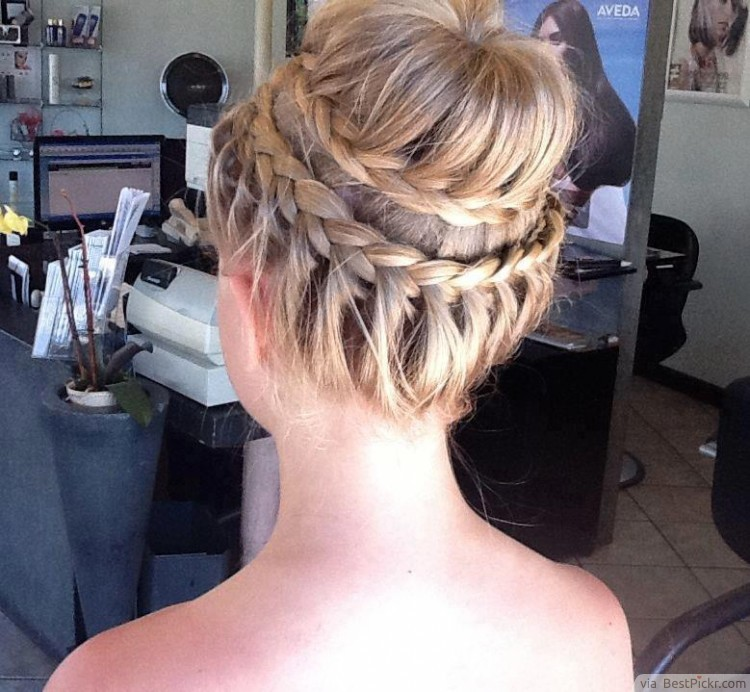 10 trendy prom updo hairstyles for 2017 bestpickr braided bun prom updo hair httpbestpickr pmusecretfo Choice Image
