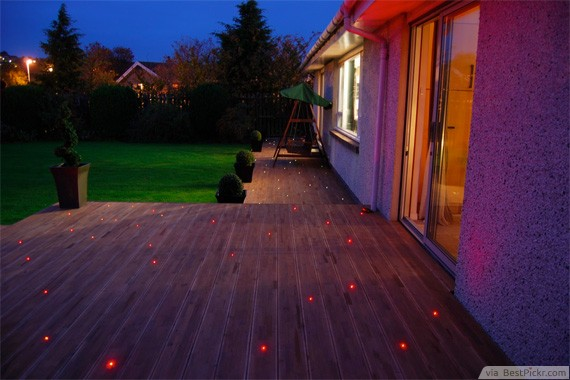 10 great deck lighting ideas for cool outdoor patio design bestpickr lighting the deck with fascinating stars on the floor http aloadofball Gallery
