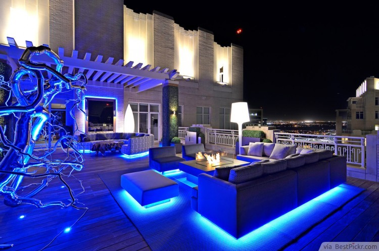 contemporary deck patio lighting ideas httpbestpickrcom - Outdoor Lighting Design Ideas