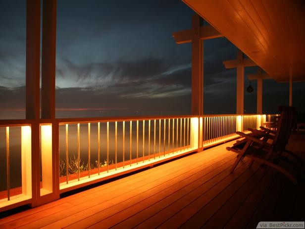 lighting design ideas. Subtle Lighting Patio Design Ideas For Deck Rails ❥❥❥ Http://bestpickr