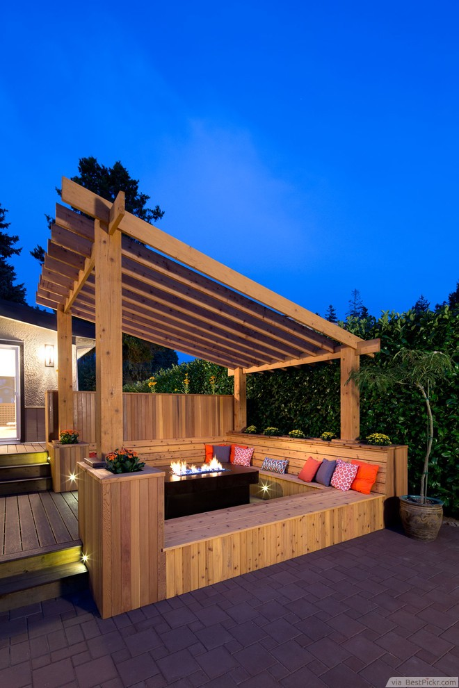 deck lighting. Transitional Deck With Sleek Fire Pit ❥❥❥ Http://bestpickr.com Lighting