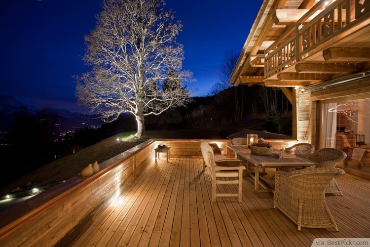 Eclectic Deck With White Accent Tree Http Bestpickr Patio Lighting Design Ideas