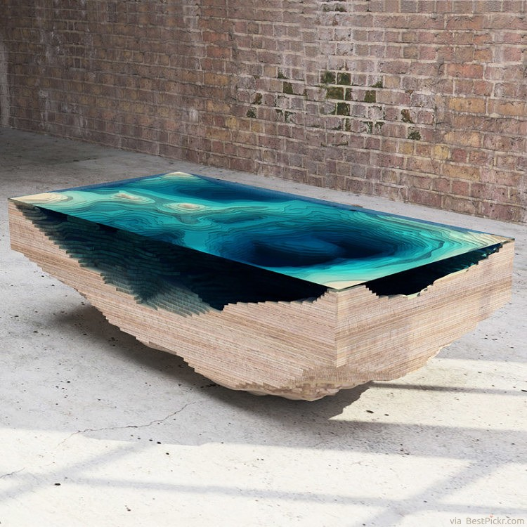 The Ocean Abyss Coffee Table ❥❥❥ http://bestpickr.com/cool-unique-coffee-tables-unusual-ideas
