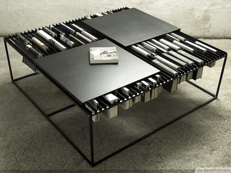 elegant nar coffee table bookshelf design httpbestpickr - Coffee Table Design Ideas