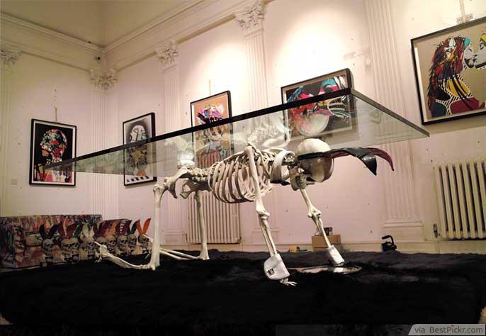 Creepy Skeleton Glass Table For Halloween ❥❥❥ http://bestpickr.com
