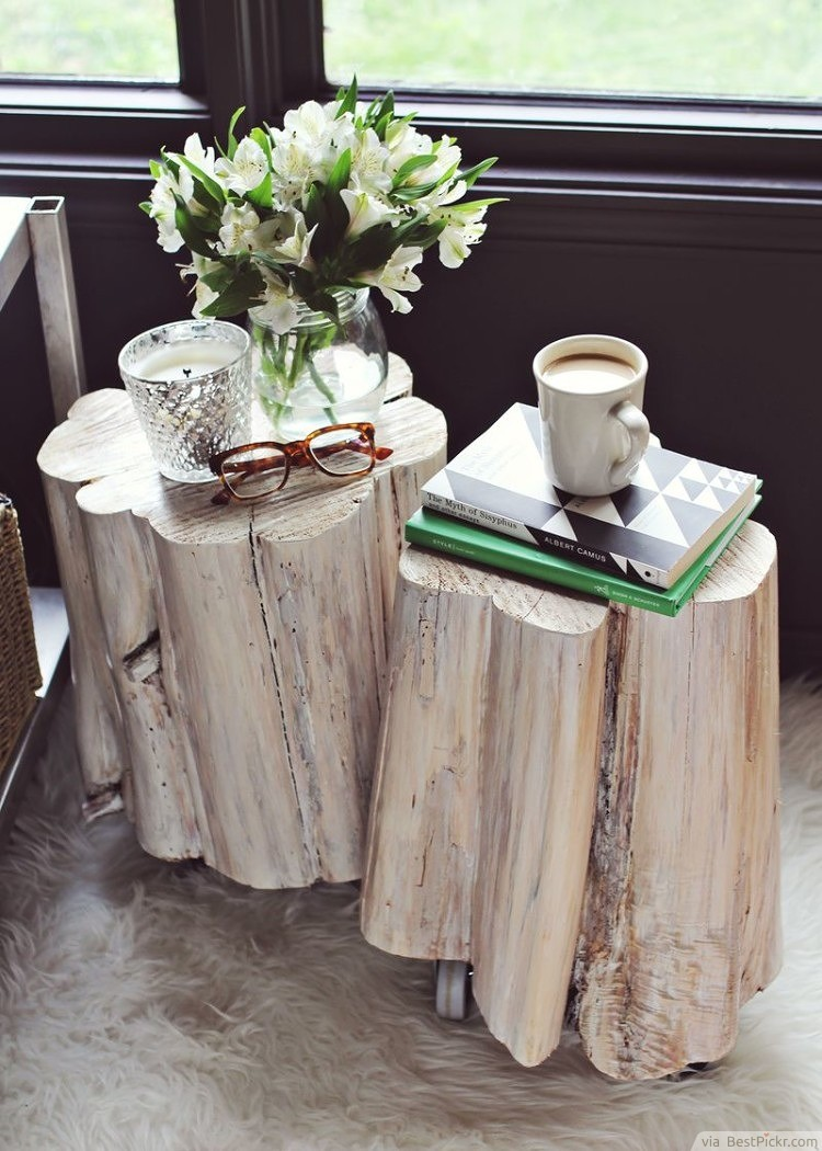 DIY Furniture   How To Make Tree Stump Side Tables ❥❥❥  Http://bestpickr.com/cool Unique Coffee Tables Unusual Ideas