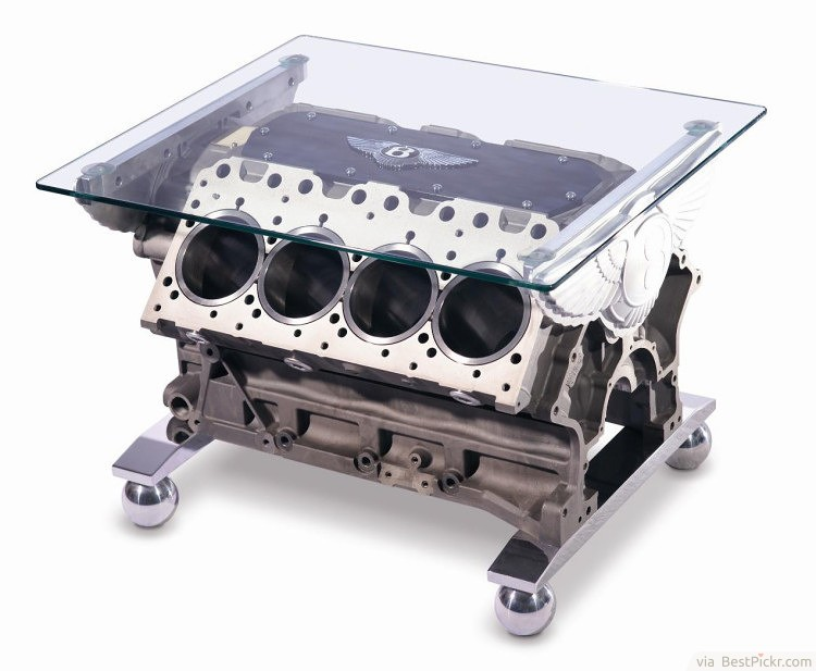 Cool Car Engine Metal Coffee Table With Glass Top ❥❥❥ Http://