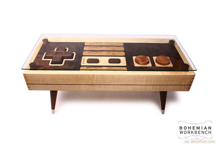 Beau Nintendo Controller Maple Or Walnut Coffee Table