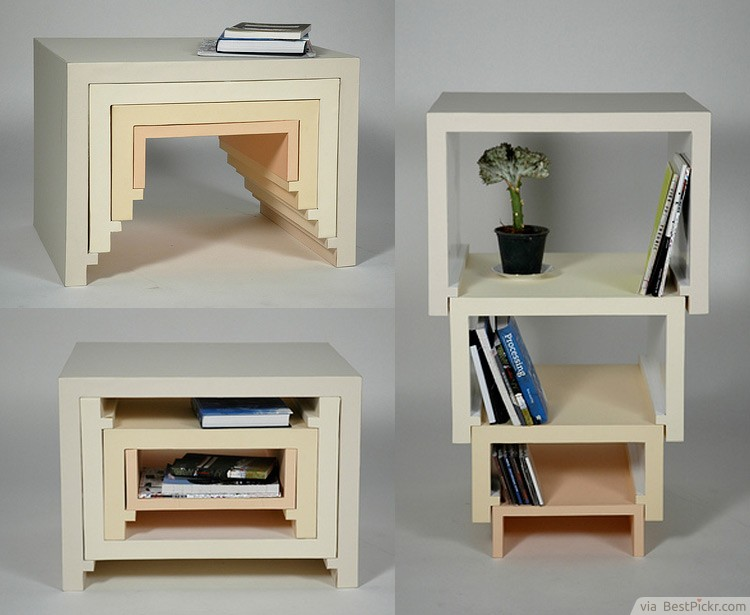 DIY Stackable Table + Bookshelf Creative Furniture Design ❥❥❥  Http://bestpickr