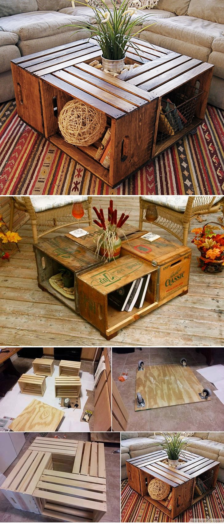 30 unique coffee tables cool design ideas for unusual living antique wine crate or wood box coffee table diy http geotapseo Choice Image