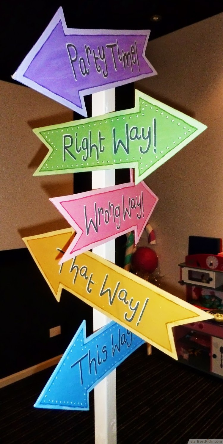 Mad hatter tea party decoration ideas - Mad Hatter Tea Party Directions Signpost Http Bestpickr Com
