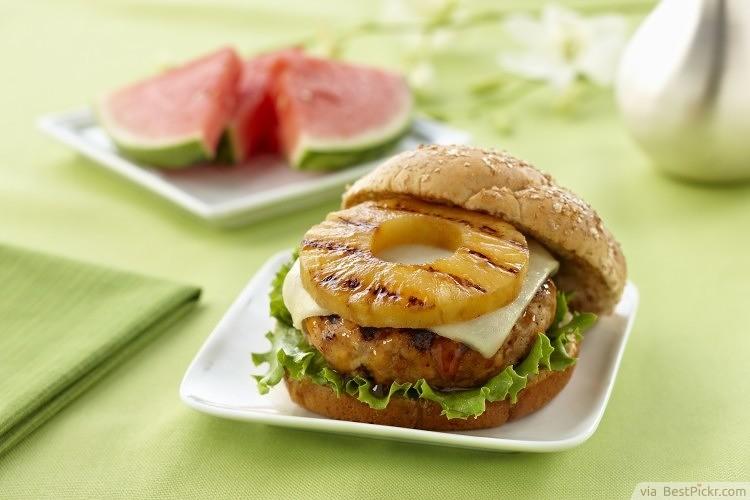 Luau Party Food Idea Pineapple Burger Bestpickr