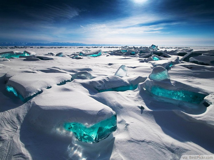 Wondrous Turquoise Ice Lake Baikal Russia Bestpickr World Most Beautiful Places