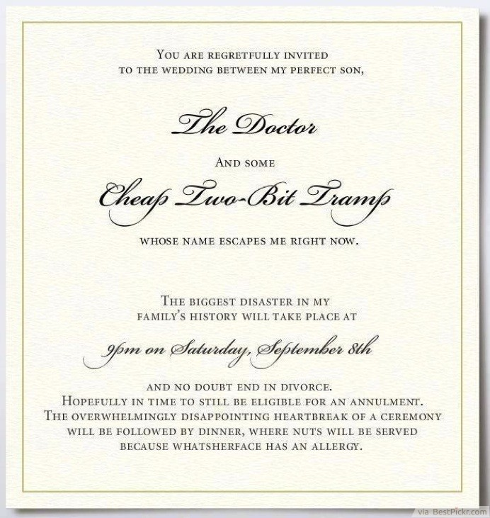 15 funny wedding invitations cards to crack guests up bestpickr the unimpressed fathers funny invitation card httpbestpickr funny wedding invitations filmwisefo