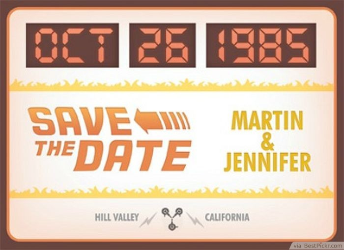 Fun Back To The Future Themed Wedding Invitations Http Bestpickr