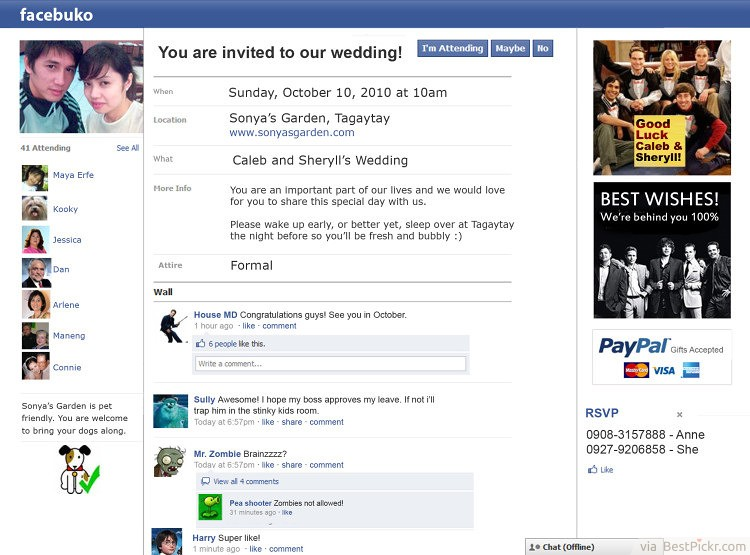 15 funny wedding invitations cards to crack guests up bestpickr facebook status wedding invitations httpbestpickrfunny stopboris Image collections