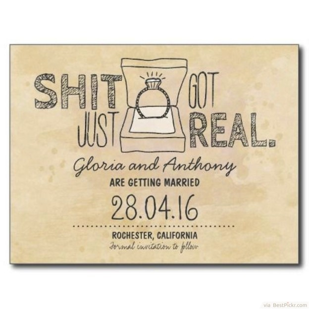 The Sweary Invitations ❥❥❥ http://bestpickr.com/funny-wedding-invitations