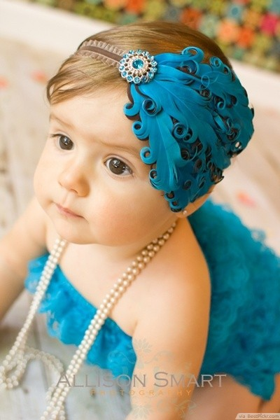 Cute Baby Girl Shone With Happiness, Curly Hair Stock Photo ...