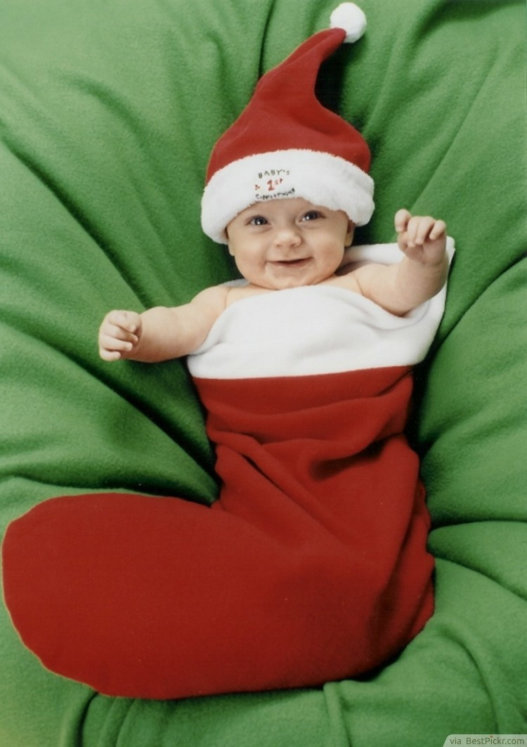 Cheerful Baby In Christmas Stockings ❥❥❥ http   bestpickr.com cute-baby -girls-boys-photos 0e392d2dec09