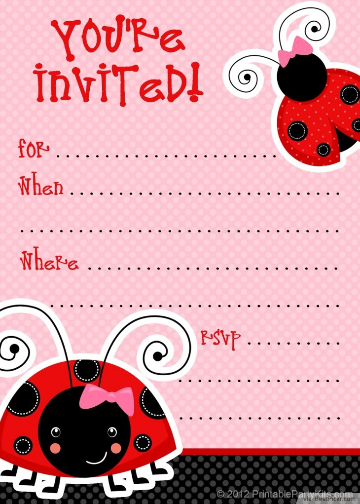 photograph relating to Baby Shower Invitation Templates Free Printable named 10 Exclusive Ladybug Little one Shower Invites Your People Will