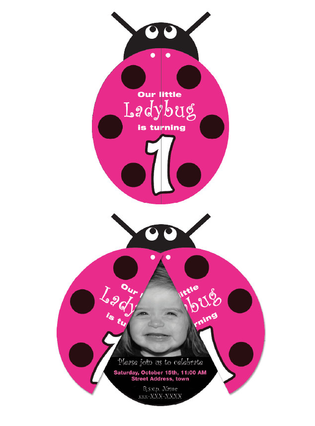 10 Unique Ladybug Baby Shower Invitations Your Guests Will – Ladybug Invitations 1st Birthday