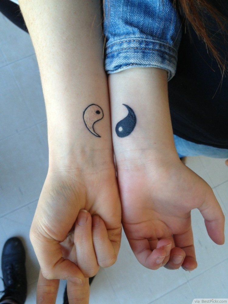 1e0a3e9f4e9b5 Perfect Match Small Yin Yang Tattoo On Wrist ❥❥❥ http://bestpickr.com/yin- yang-tattoos