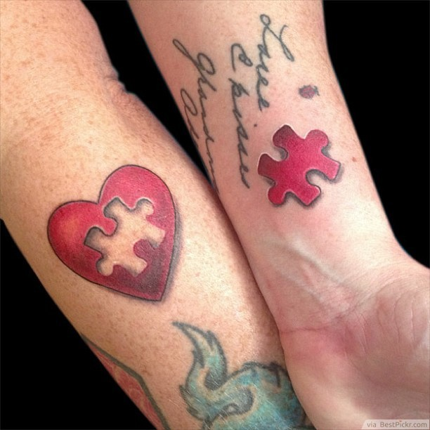178f8774a271a The Missing Puzzle Matching Tattoos For Married Couples ❥❥❥  http://bestpickr.com/matching-couples-tattoos