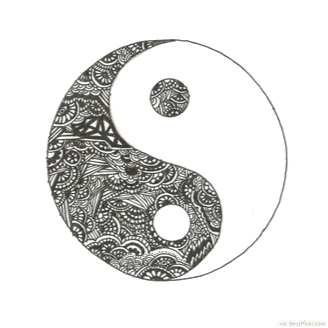 30 cool yin yang tattoos perfect designs ideas bestpickr for Architecture yin yang