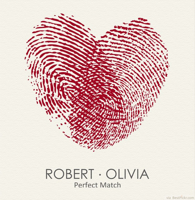 ddbba5f76 Unique Heart Fingerprints Matching Tattoos For Lovers Idea ❥❥❥  http://bestpickr.com/matching-couples-tattoos