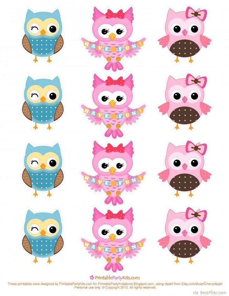 graphic relating to Free Printable Cupcake Toppers Template referred to as No cost Printable Cartoon Owl Cupcake Toppers Template BestPickr