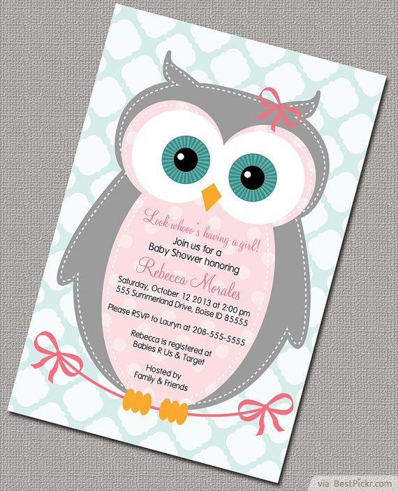 dea643fb9ba2 Cute Own Baby Shower Invitation For Girls ❥❥❥ http   bestpickr.com owl-baby- shower-invitations