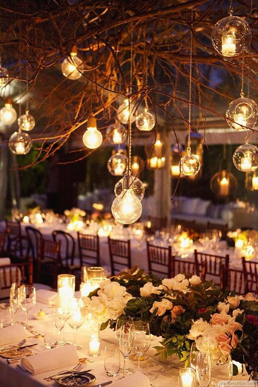 Warm Wedding Glass Pendant Lighting