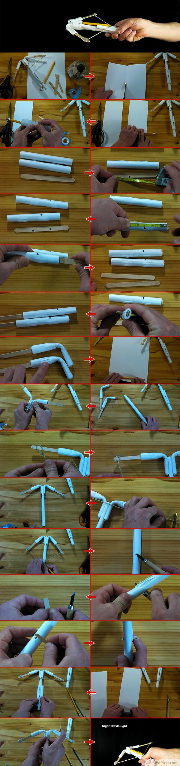 How to make a Paper Crossbow - (Mini Crossbow) - YouTube | 2550x600
