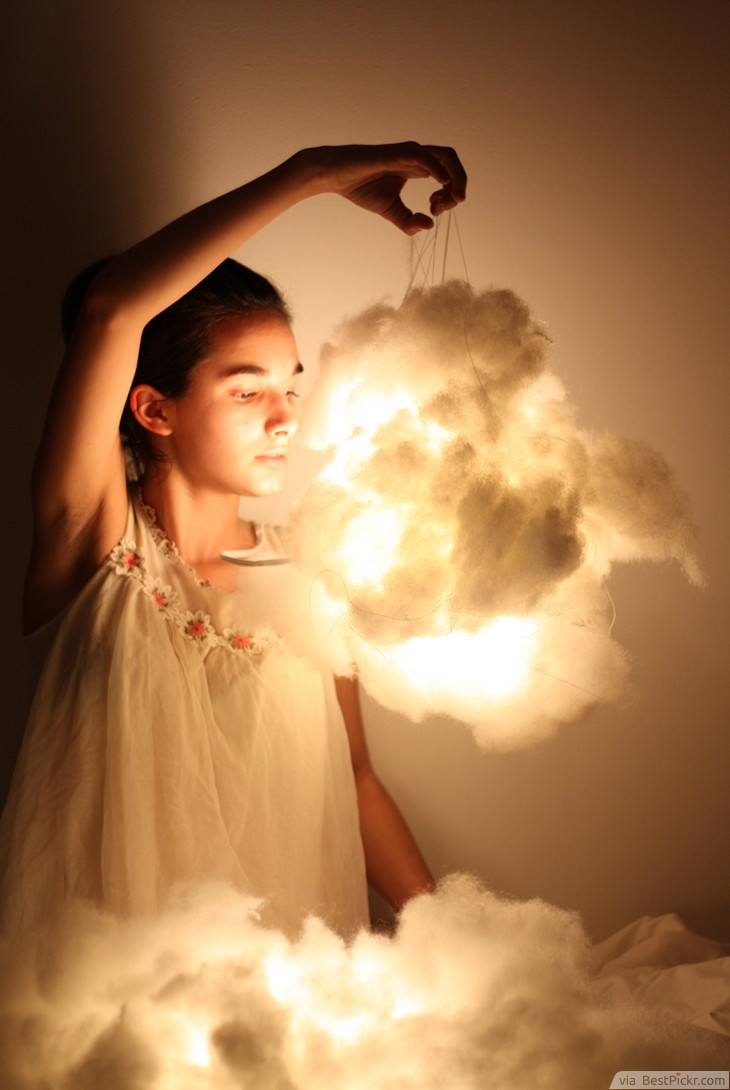 LED Cotton Clouds Lighting ❥❥❥ http://bestpickr.com/outdoor-party-lighting-ideas